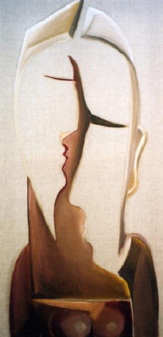 La Rencontre_ 2004 huile sur toile  80x40cm (683x330px)