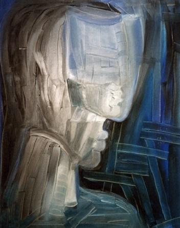 Réflexion 2004 huile sur toile  81 x 65 cm (444x352px)
