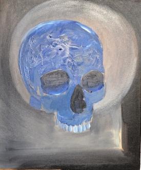 De Chair et d'Os-11 Huile sur toile 55 x 46 cm