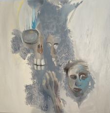 De Chair et d'Os-14 Huile sur toile 120 x 120 cm