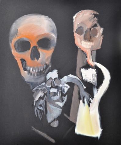 De Chair et d'Os-17 huile sur toile 110 x 92 cm