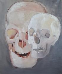 Vanitas-20 huile sur toile 54 x 46 cm