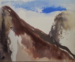 L'envol-2 huile sur toile 180 x 150 cm