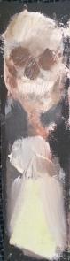 De Chair et d'Os-5 Huile sur toile 29,5 x 8 cm